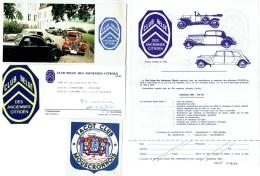 Club Belge Des Anciennes CITROEN, Overijse. Carte Voeux 1988 Avec Photo/Autocollant/Documents 1982. Lot De 5 Pièces. - Publicités