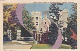 Nebraska Omaha Joslyn Castle Offices Of The School Board Curteich - Omaha