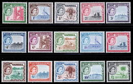 Gambia 1953-1959 MH Set SG 171/185 Cat £100 - Gambia (...-1964)