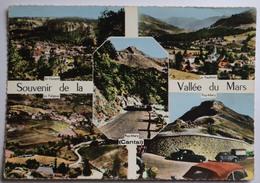 15 : Souvenir De La Vallée Du Mars - St-Vincent - Le Falgoux - Le Vaulmier - Puy-Mary - CPSM GF Colorisée - (n°9202) - Non Classificati