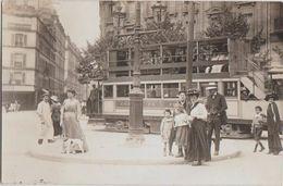 CPA PHOTO 75 PARIS XI 15 Avenue De La République / 82 Rue De La Folie Méricourt Tramway Gros Plan Animation Rare - District 11