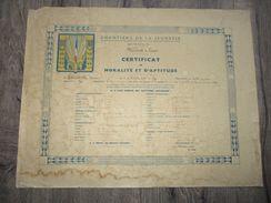 CERTIFICAT CHANTIERS JEUNESSE, PERIODE VICHY  (1) - Documents
