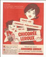 PUB CADEAUX PUBLICITAIRES DE LA CHICOREE LEROUX - Advertising