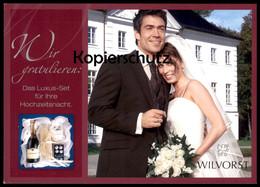 ÄLTERE POSTKARTE WILVORST WIR GRATULIEREN Marriage Wedding Mariage Tattinger Champagner Postcard Ansichtskarte Cpa AK - Hochzeiten