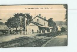 LE GRAND LEMPS - La  GARE P.L.M. Avec Arrivée Du Train  - Superbe Plan Animé - 2 Scans - Francia