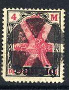 DANZIG 1920 Overprint On  Germania 4 Mk. With Oliva Parcel Cancel  Michel 14 - Danzig