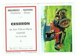 Calendrier De Poche 1969 Boulangerie Pâtisserie CESBRON à NANTES (fr55) - Calendriers