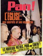 PAN !   N° 7  L EGLISES SES SECRETS ET SES MYSTERES 1972  -  80 PAGES  - - Religion
