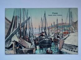 FIUME ISTRIA Canale Fiumara Barche Vela Pesca AK Vecchia Cartolina Croazia 1303 - Croazia