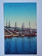 FIUME ISTRIA Bragozzi Entrata Canale Barche Vela Pesca AK Vecchia Cartolina Croazia 1024 - Croazia