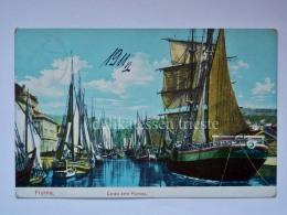 FIUME ISTRIA Canale Fiumara Barche Vela Veliero AK Vecchia Cartolina Croazia 7737 - Croazia