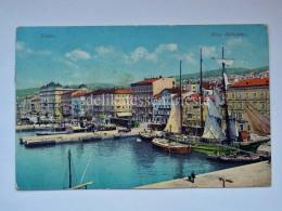 FIUME ISTRIA Riva Battyany TRENO TRAIN AK Vecchia Cartolina Croazia 8110 - Croazia
