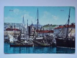 FIUME ISTRIA Porto NAVI AK Vecchia Cartolina Croazia 8107 - Croazia