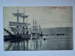 FIUME ISTRIA Dalmazia Porto Baross AK Vecchia Cartolina Croazia Postcard - Croatia