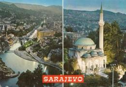 SARAJEVO - Alipasna Moschee, 2 Stamp - Serbien
