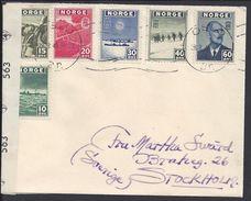 NORVEGE - 1945 - Bel Affranchissement De Timbres D'Exil N° 263 à 268 Sur Enveloppe De Oslo Pour Stockolm  - B/TB - - Norwegen