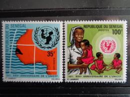 SENEGAL 1971 Y&T N° 356 & 357 ** - 25e ANNIVERSAIRE DE L' U.N.I.C.E.F - Sénégal (1960-...)