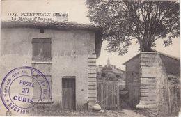 CPA N°1134 Dept 69 POLEYMIEUX La Maison D'ampére Tampon Des GVC Du Rhone Poste 20 - France