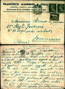 6216a)cartolina-  Postale  Francesco Mannino E Figli - 1900-44 Vittorio Emanuele III