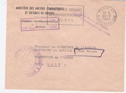 Beau Cachet PARIS XII 24-2.1966 R. CROZATIER 12° Sur Lettre Ministère Des Anciens Combattants Et Victimes De Guerre +++ - Handstempel