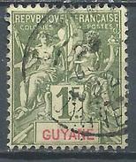 Guyane Française YT N°42 Groupe Allégorique Oblitéré ° - Französisch-Guayana (1886-1949)