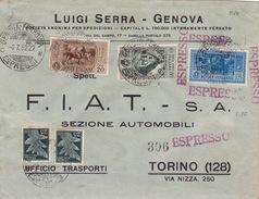 Brief Von Genova Ferrovia Nach Torino - Storia Postale