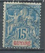 Guyane Française YT N°35 Groupe Allégorique Oblitéré ° - Französisch-Guayana (1886-1949)