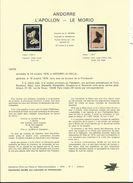 7 NOTICES Philatéliques D' ANDORRE (n°1 à 7) Avec 9 Timbres Neufs  Correspondants ...1976.....à Voir - Neufs