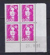 "FR Coins Datés YT 2717 "" Briat 4F00 Rose "" Neuf** Du 26.8.91 - 1990-1999"