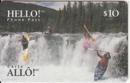 CANADA - Kayak, Hello Magnetic Prepaid Card $10, 02/97, Used - Canada