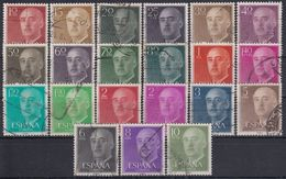 ESPAÑA 1955/56 Nº 1143/1163 PAPEL MATE USADO (REF. 01) - 1931-Hoy: 2ª República - ... Juan Carlos I