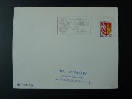 03 Allier Moulins Costume 1966 - Flamme Sur Lettre Postmark On Cover - Disfraces