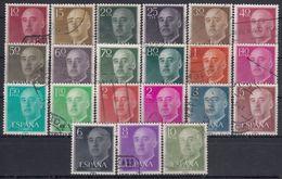 ESPAÑA 1955/56 Nº 1143/1163 PAPEL MATE USADO (REF. 02) - Errors & Oddities