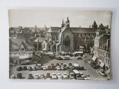 CPSM 10x15 GABY 46 SAINT-BRIEUC Place De La Grille Et L'Abside De La Cathédrale - Saint-Brieuc