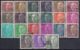 ESPAÑA 1955/56 Nº 1143/1163 PAPEL MATE USADO (REF. 03) - 1931-Hoy: 2ª República - ... Juan Carlos I