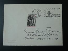 16 Charente Cognac Croix Rouge 1973 - Flamme Concordante Sur Lettre Postmark On Cover - Rode Kruis