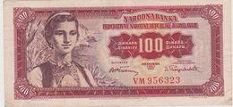 YOUGOSLAVIE 100 Dinars 1955 P69 VF- - Yougoslavie