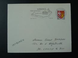 17 Charente Maritime Surgères église Remparts Beurre 1966 - Flamme Sur Lettre Postmark On Cover - Eglises Et Cathédrales