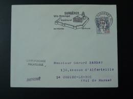 17 Charente Maritime Surgères église Remparts Beurre 1966 - Flamme Sur Lettre Postmark On Cover - Oblitérations Mécaniques (flammes)