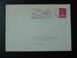 17 Charente Maritime Surgères église Remparts Beurre 1976 - Flamme Sur Lettre Postmark On Cover - Oblitérations Mécaniques (flammes)