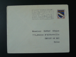 29 Finistere Fouesnant Costume 1966 - Flamme Sur Lettre Postmark On Cover - Disfraces