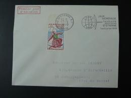 42 Loire St Etienne Jeux Mondiaux Handicappés Handisport 1970 - Flamme Concordante Sur Lettre Postmark On Cover - Handisport