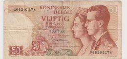 BELGIQUE 50 Francs 1966 P139 VG - [ 2] 1831-... : Royaume De Belgique