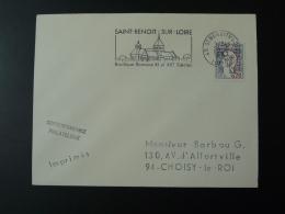 45 Loiret St Benoit Sur Loire Basilique Romane 1967 - Flamme Sur Lettre Postmark On Cover - Abbayes & Monastères