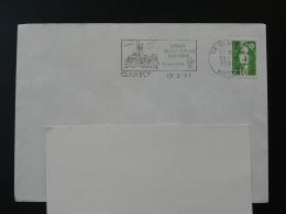 58 Nievre Clamecy Arrivée Du Gaz Naturel Cathedrale 1991 - Flamme Sur Lettre Postmark On Cover - Gaz