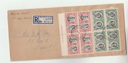 1947 REGISTERED Bulawayo To Ceres SOUTHERN  RHODESIA FDC Blocks Of 4 ROYAL VISIT Stamps Cover Royalty - Southern Rhodesia (...-1964)