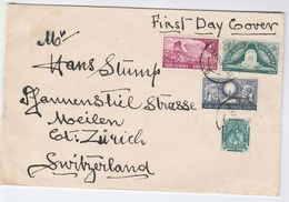 1949 SOUTH AFRICA Voortrekker FDC To Switzerland Cover Stamps - South Africa (...-1961)