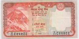 NEPAL 20 Roupies 2009 P62b VF+ - Népal