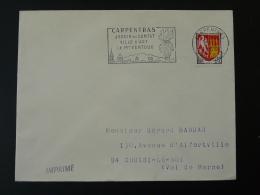 84 Vaucluse Carpentras Mont Ventoux 1966 - Flamme Sur Lettre Postmark On Cover - Marcofilia (sobres)