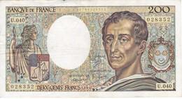BILLETE DE FRANCIA DE 200 FRANCOS DEL AÑO 1986  (BANKNOTE) - 1962-1997 ''Francs''